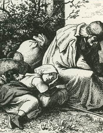 Detail from an engraving of Jakob and Katharina Hutter.