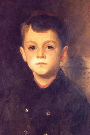 A detail from John Singer Sargent's painting, Portrait of Lancelot Allen.