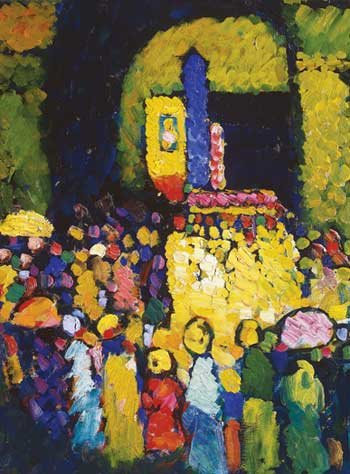 Detail from The Ludwigskirche in Munich by Wassily Kandinsky