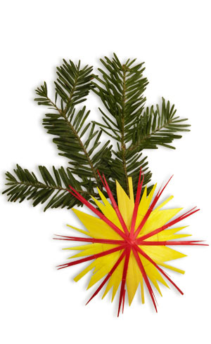 yellow and red straw star