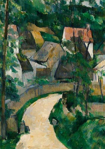 Paul Cezanne: Detail from A Turn in the Road