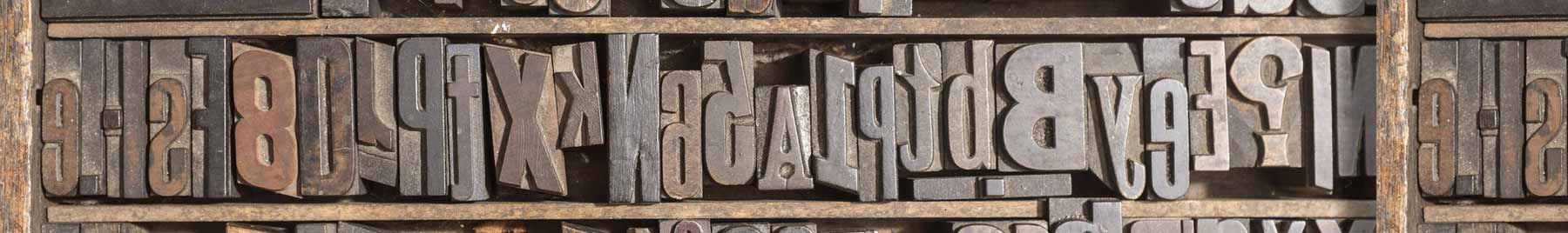 Old wooden type