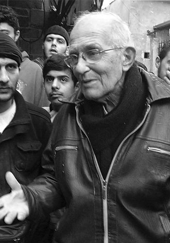 Father Frans van der Lugt in the besieged area of Homs in January 2014