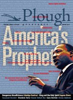 front cover to Plough Quarterly No 16: Americas Prophet
