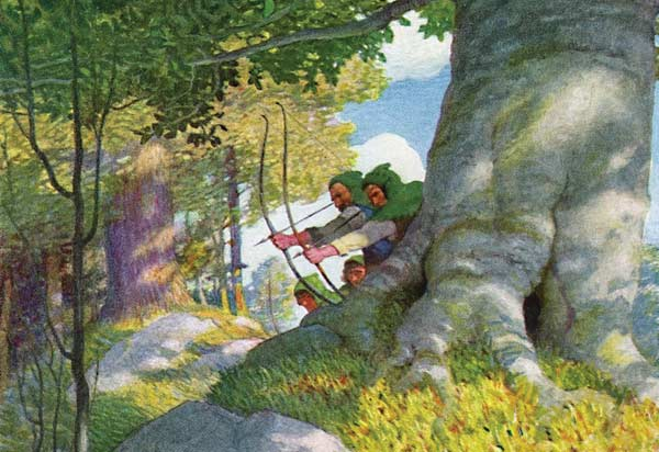 N. C. Wyeth, details of illustrations for Paul Creswick's Robin Hood
