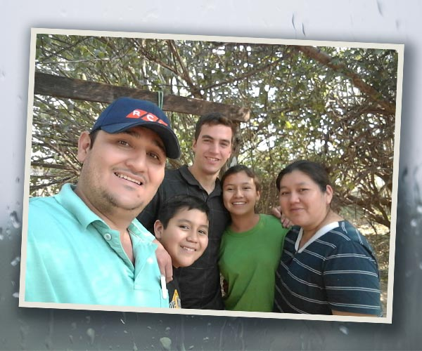 Rudi with friends in Paraguay